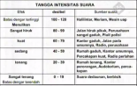 tangga intensitas suara