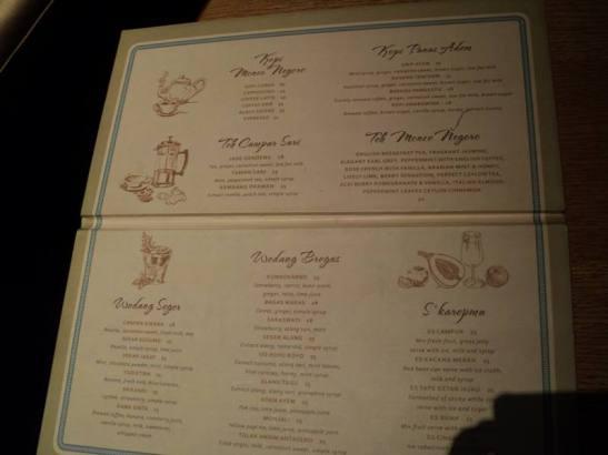 menu warung kopi sidomuncul hotel tentrem yogyakarta