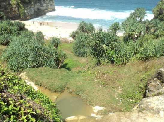 gambar peta lokasi Pantai Nampu 2 Wonogiri